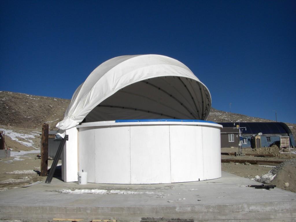 B-Machine dome slightly open